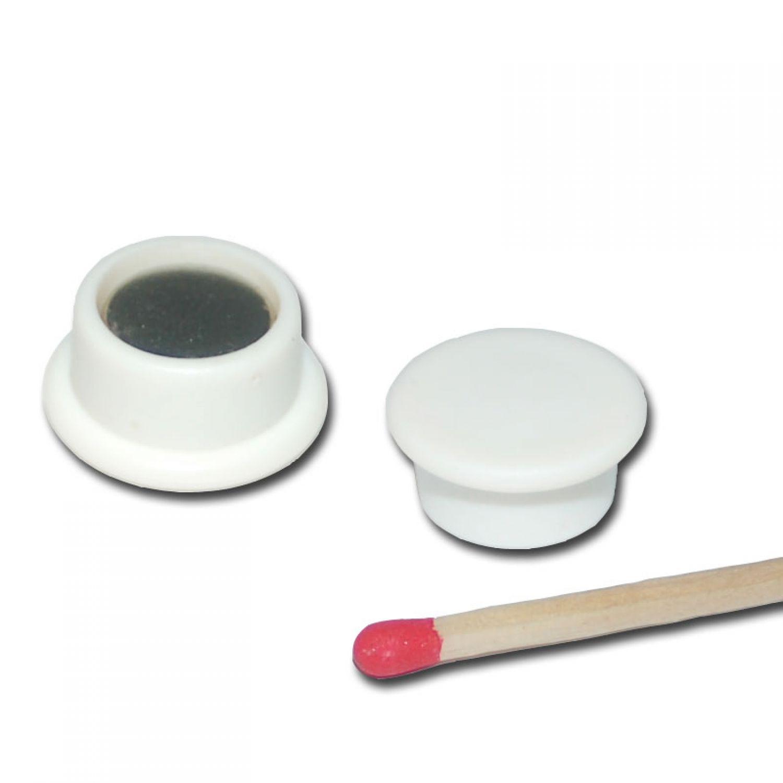 5 starke neodym pinnwand magnete d18x8 mm wei k hlschrank tafel schule board ebay. Black Bedroom Furniture Sets. Home Design Ideas