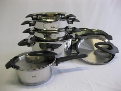 fissler topfset intensa 5 tlg schwarz 1611805000 ebay. Black Bedroom Furniture Sets. Home Design Ideas