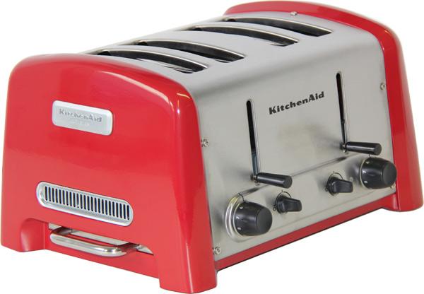 kitchenaid toaster 5ktt890eer rot 4 fach ebay. Black Bedroom Furniture Sets. Home Design Ideas