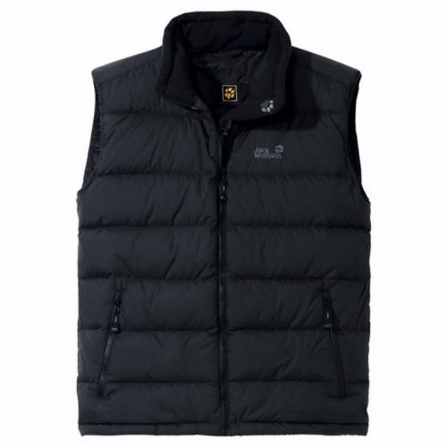 jack wolfskin herren weste lhotse vest men black ebay. Black Bedroom Furniture Sets. Home Design Ideas