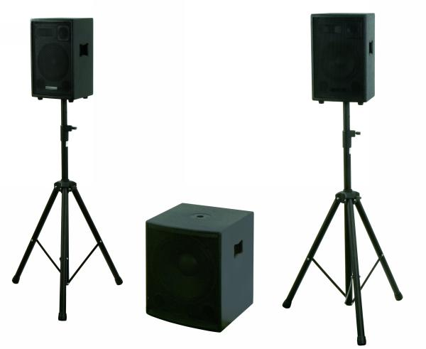 aktiv pa system beschallungsanlage dj set subwoofer boxen. Black Bedroom Furniture Sets. Home Design Ideas
