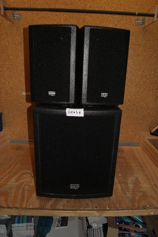 dap audio clubmate 15 aktiv pa system subwoofer 2. Black Bedroom Furniture Sets. Home Design Ideas
