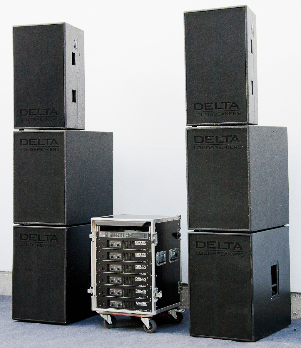 delta passiv pa system 4x subwoofer 2x lautsprecher. Black Bedroom Furniture Sets. Home Design Ideas