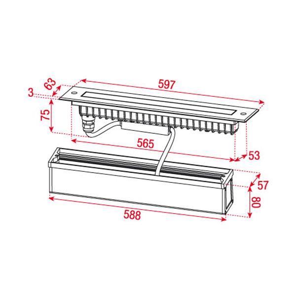 artecta einbauleuchte louvre kaltweiss led wand boden beleuchtung lichtleiste ebay. Black Bedroom Furniture Sets. Home Design Ideas