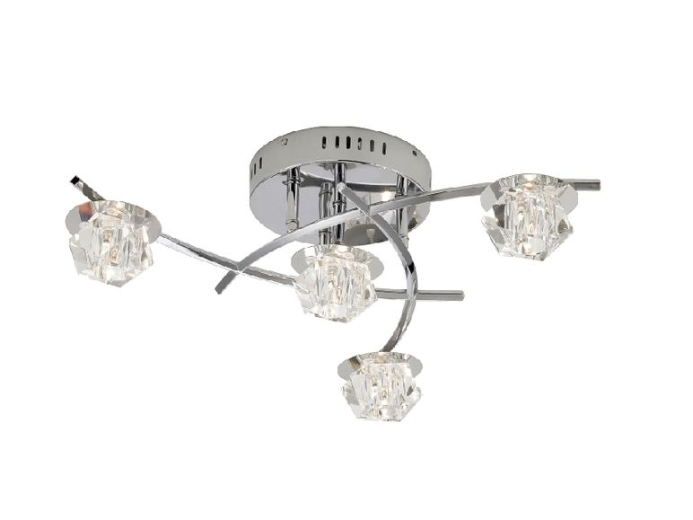 6096 17 paul neuhaus led deckenleuchte allegra 4 flammig mit fernbedienung ebay. Black Bedroom Furniture Sets. Home Design Ideas