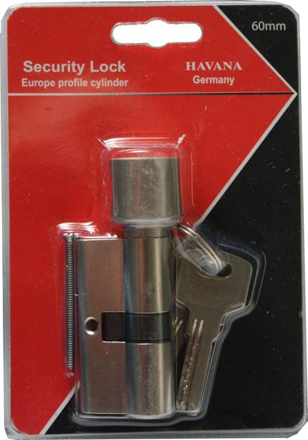 60mm havana knauf profilzylinder zylinderschlo mit drehknopf 5 schl sseln ebay. Black Bedroom Furniture Sets. Home Design Ideas