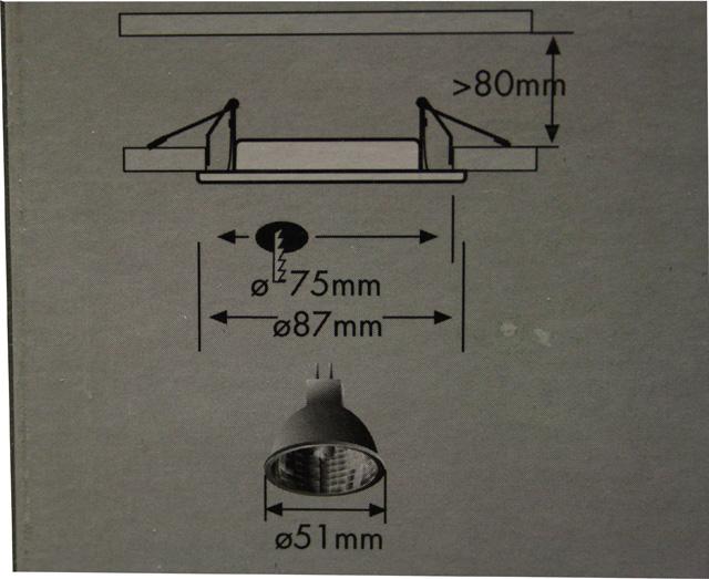 paulmann alu einbauleuchten 3x35w bad dusche ip65 au enbereich 99348 ebay. Black Bedroom Furniture Sets. Home Design Ideas