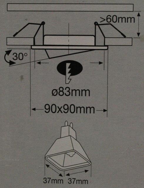 paulmann feuchtraum eckig einbauleuchten rostfrei wei 6x35w quadro 99518 ebay. Black Bedroom Furniture Sets. Home Design Ideas