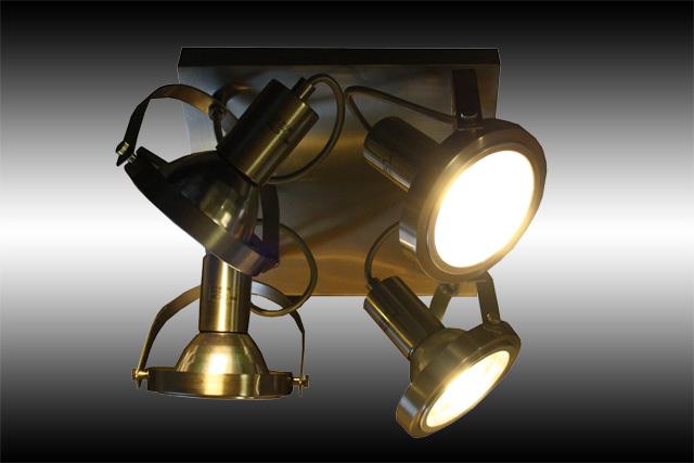 Industriedesign fabrik lampe deckenlampe studio spot for Deckenlampe viereckig