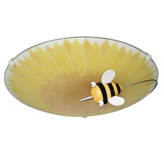 hochwertige kinderzimmerlampe gelb biene blume deckenlampe kinderzimmer lampe ebay. Black Bedroom Furniture Sets. Home Design Ideas