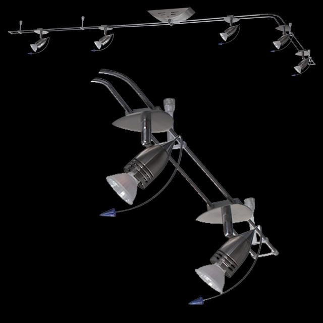 Schienensystem halogen 5x20w moderne deckenlampe for Halogen deckenlampe