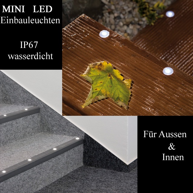 wasserdicht ip67 mini led boden einbauleuchten treppe terrasse garten bad ebay. Black Bedroom Furniture Sets. Home Design Ideas