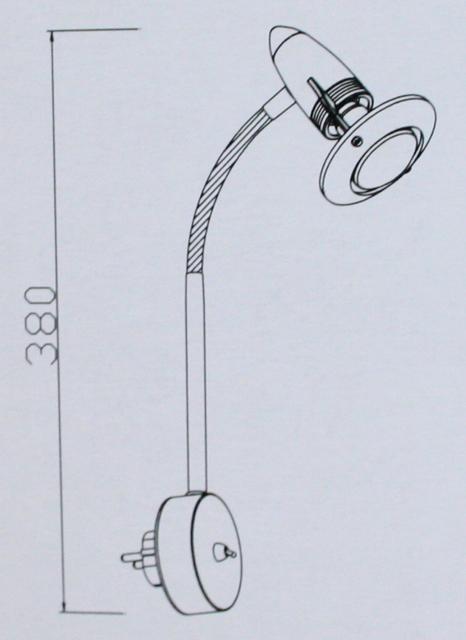 flex steckdosenlampe chrom spot steckdose lampe steckerlampe steckdosenspot ebay. Black Bedroom Furniture Sets. Home Design Ideas