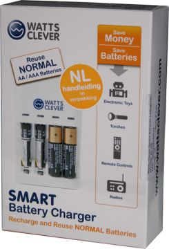 Watts Clever SBC1001 Ladegerät für normale Batterien und Akkus AA + AAA