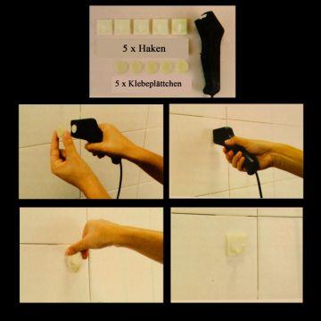 der magische haken ohne bohren keine l cher handtuchhalter de magic hook ebay. Black Bedroom Furniture Sets. Home Design Ideas