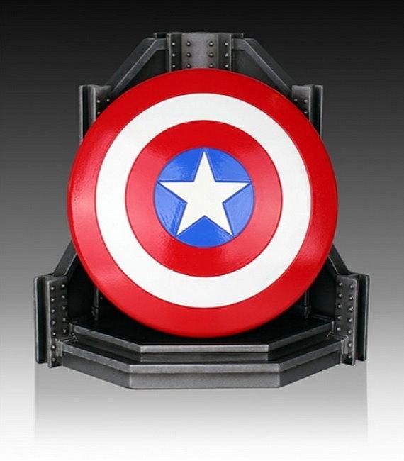 marvel buchst tze captain america schild 20cm bookend defekt dvd regal blu ray. Black Bedroom Furniture Sets. Home Design Ideas