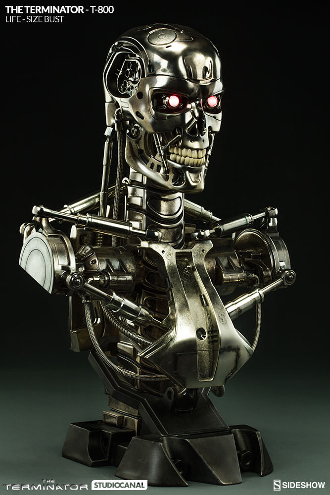 Terminator Büste 1/1 T-800 69 cm Life Size Bust Sideshow ...