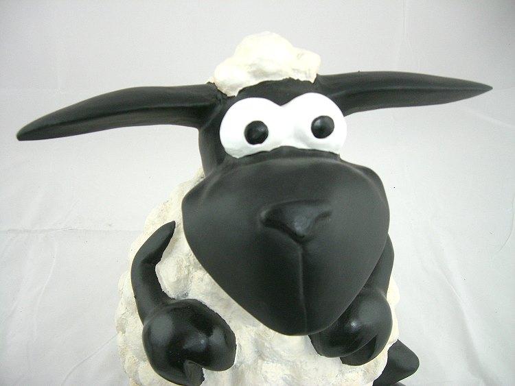 schaf gartenfigur molly lustig sitzend deko figur 40cm riesig neu. Black Bedroom Furniture Sets. Home Design Ideas