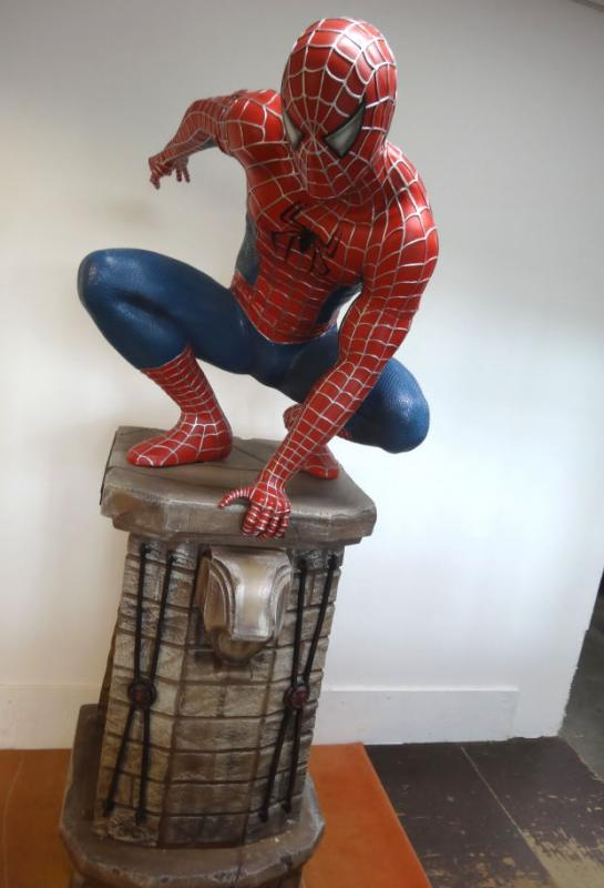 spiderman spider man 3 statue life size figur lebensgro 205cm muckle aussteller ebay. Black Bedroom Furniture Sets. Home Design Ideas