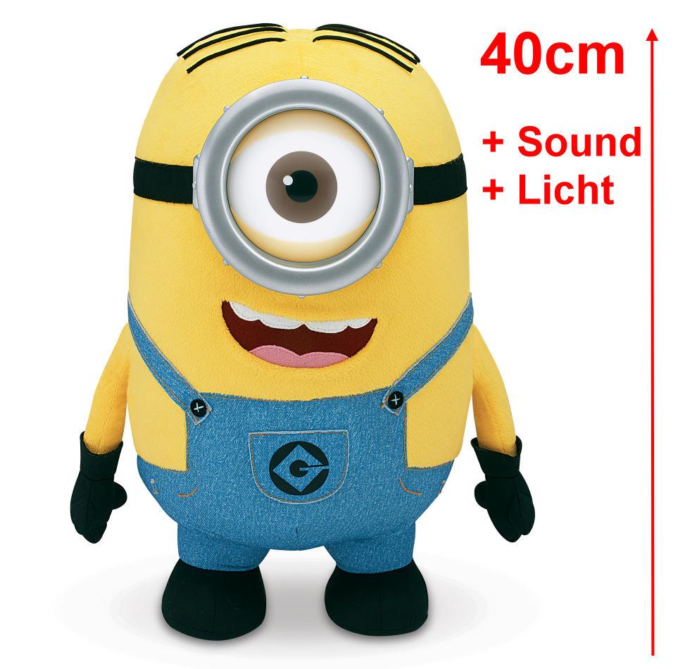 minion stuart 40cm pl sch figur singt licht sound ich einfach unverbesserlich ebay. Black Bedroom Furniture Sets. Home Design Ideas