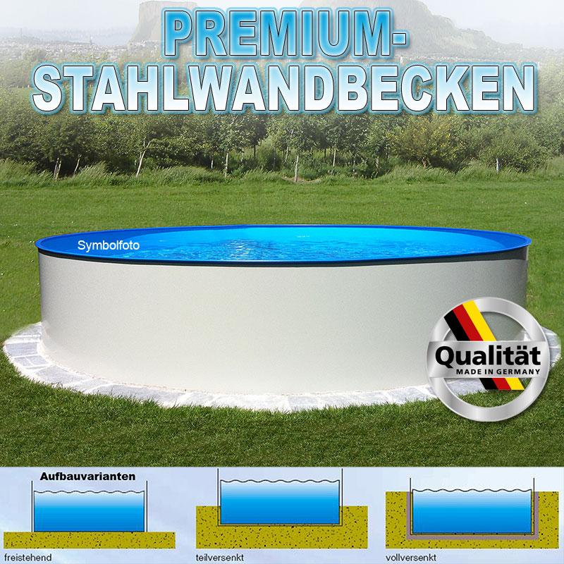 Pool 400 x 120cm rundbecken 0 4mm stahlmantel 0 4mm for Gartenpool versenkt