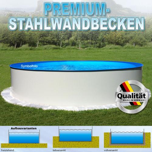 Pool 400 x 120cm rundbecken 0 4mm stahlmantel 0 4mm for Rundpool folie
