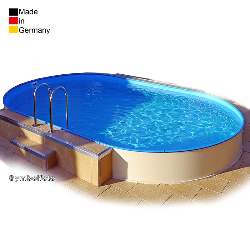 Image Of Sunny Arizona Pools: Ovalpool 6,30 X 3,60 X 1,35 M Folie 0,6 Mm + Skimmer-Set