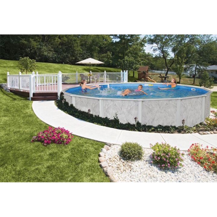 Komplett set 4 60 x 1 32 m rundbecken graystone doughboy for Rundpool set angebot