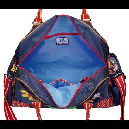 spiegelburg tasche wickeltasche babygl ck blau mit pilz ebay. Black Bedroom Furniture Sets. Home Design Ideas