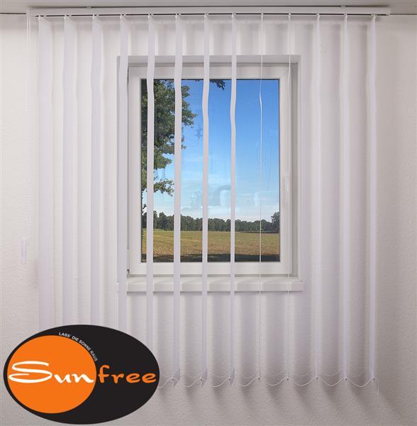 vertikal lamellen vorhang 150 x 180 wei marke sunfree ebay. Black Bedroom Furniture Sets. Home Design Ideas