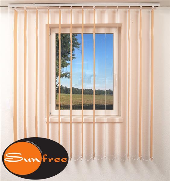sunfree vertikal lamellen vorhang 200 x 180 cm bxh beige ebay. Black Bedroom Furniture Sets. Home Design Ideas
