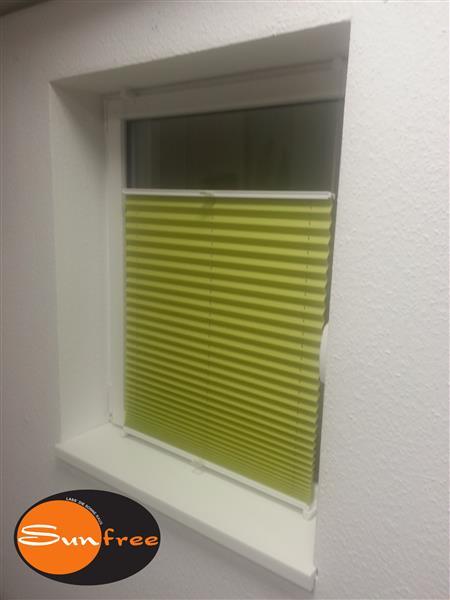 sunfree klemmfix plissee gr n 90x130 cm bxh ebay. Black Bedroom Furniture Sets. Home Design Ideas