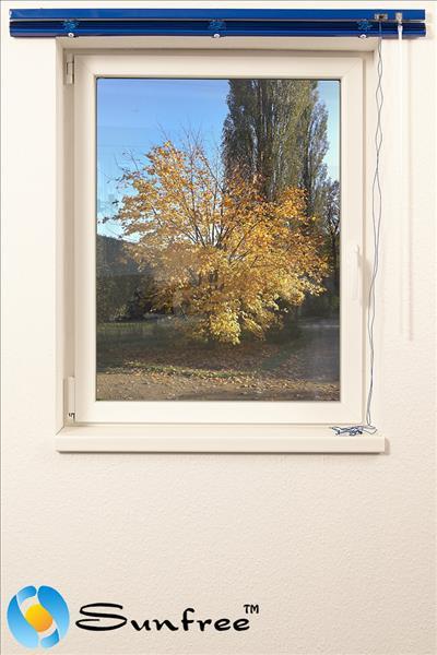 sunfree klemmfix jalousie alu jalousien blau 160 x 150 cm bxh ebay. Black Bedroom Furniture Sets. Home Design Ideas