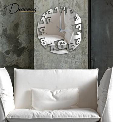 moderne designer quarz wanduhr auch als wandtattoo in edler und ... - Moderne Wanduhren Wohnzimmer