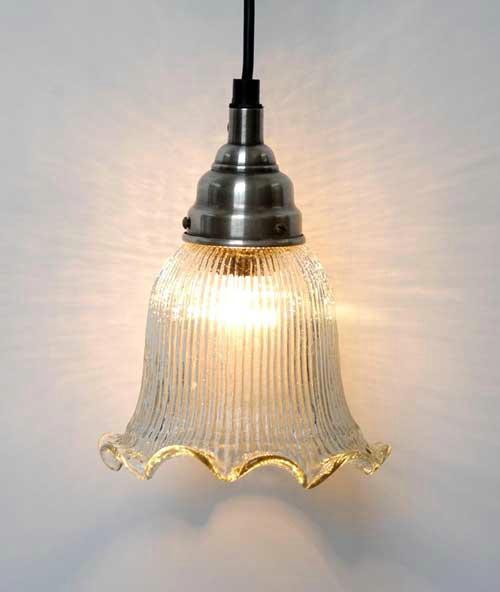 Ib laursen nostalgie lampe glas gerillt gewellt vintage for Lampen nostalgie