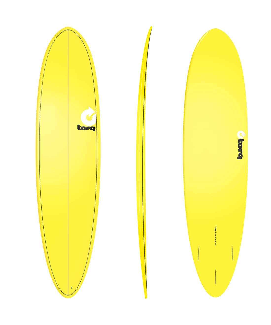 surfboard torq epoxy tet 7 6 funboard yellow wellenreiter surfbrett ebay. Black Bedroom Furniture Sets. Home Design Ideas