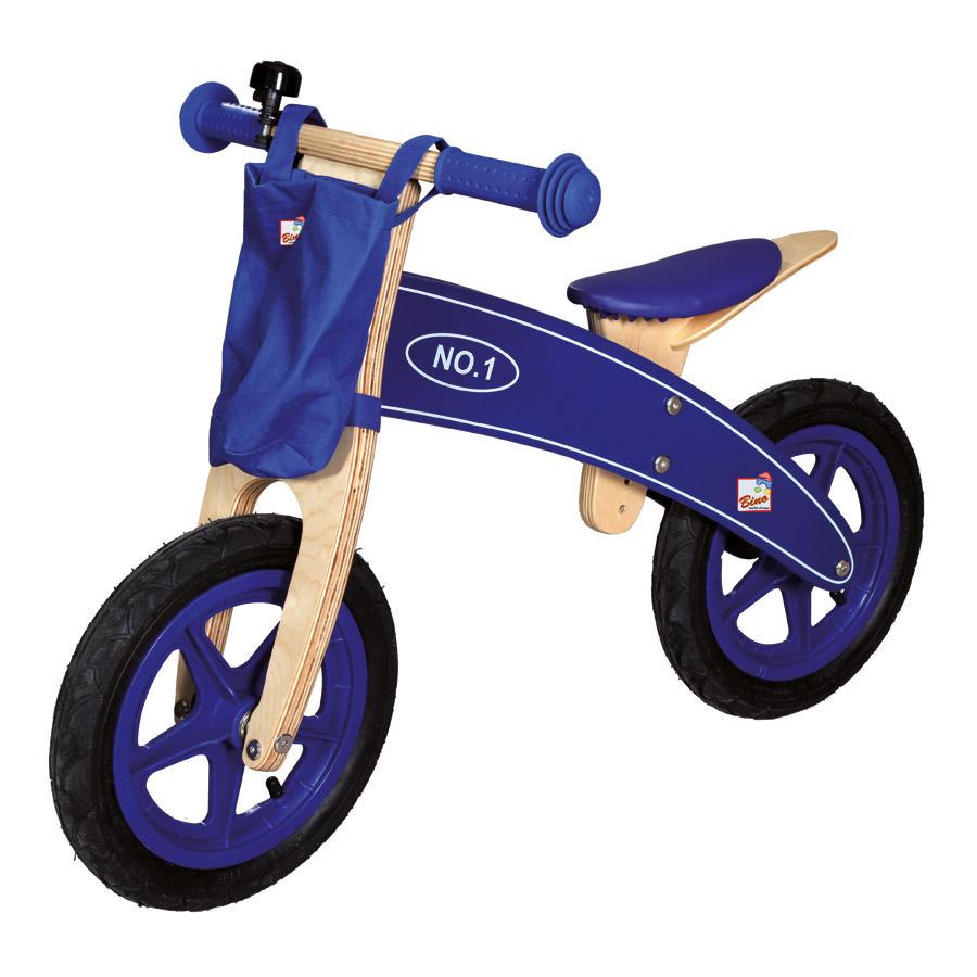 bino laufrad lauflernrad aus holz blau motorrad. Black Bedroom Furniture Sets. Home Design Ideas
