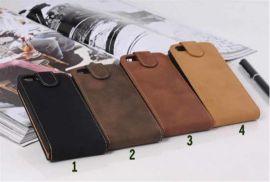 Iphone 5 Retro Leder Flip Case Tasche Schutzhülle rotbraun von Handyparts24
