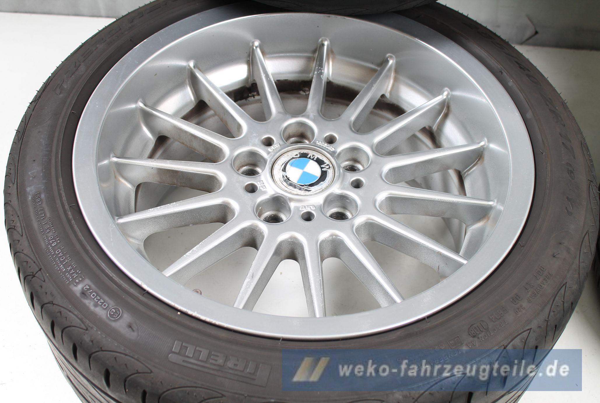 Bmw 5er e39 alufelgen styling 32 radialspeiche 8x17 et for Weko offnungszeiten