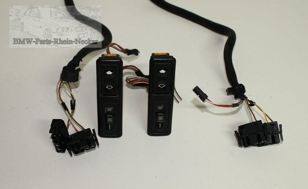 bmw 3er e36 schalter sitzheizung fensterheber mit stecker. Black Bedroom Furniture Sets. Home Design Ideas