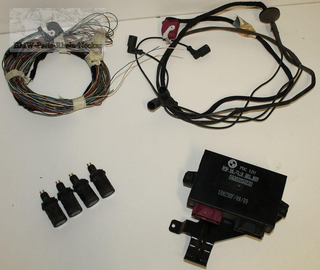 bmw 3er e36 compact pdc system mit kabelbaum sensor. Black Bedroom Furniture Sets. Home Design Ideas