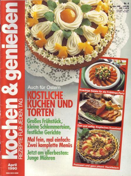 kochen und genie en nr 04 1990 k stliche kuchen und torten ebay. Black Bedroom Furniture Sets. Home Design Ideas