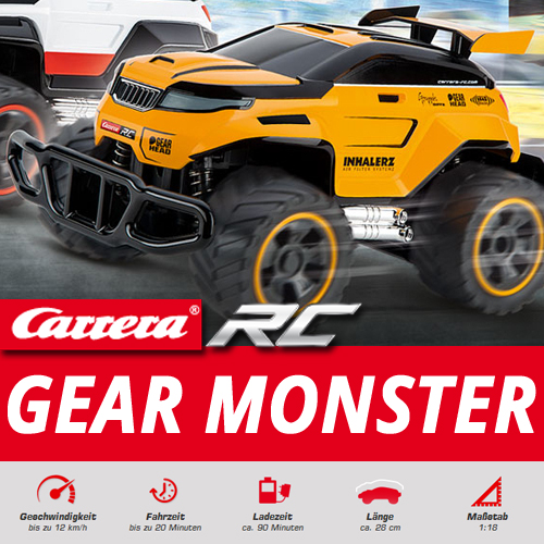 carrera rc gear monster ferngesteuertes auto buggy jeep. Black Bedroom Furniture Sets. Home Design Ideas