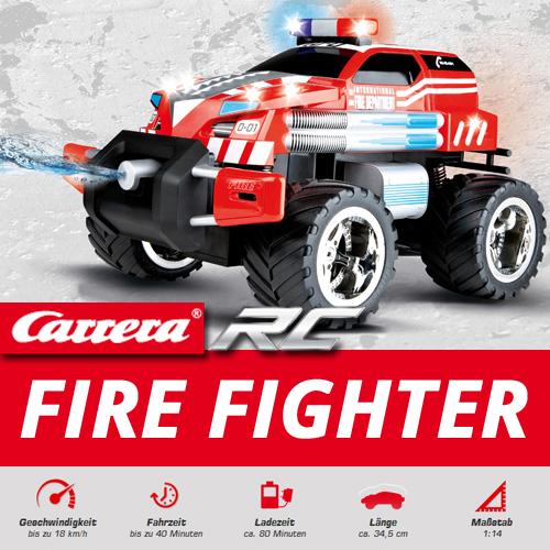 carrera rc fire fighter watergun ferngesteuertes feuerwehr. Black Bedroom Furniture Sets. Home Design Ideas