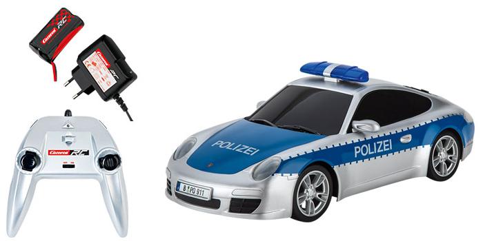 carrera rc polizei porsche ferngesteuertes auto mit. Black Bedroom Furniture Sets. Home Design Ideas