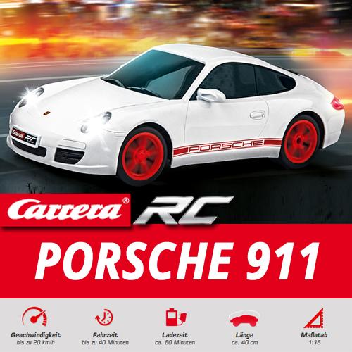 carrera rc porsche 911 wei ferngesteuertes auto rennwagen. Black Bedroom Furniture Sets. Home Design Ideas