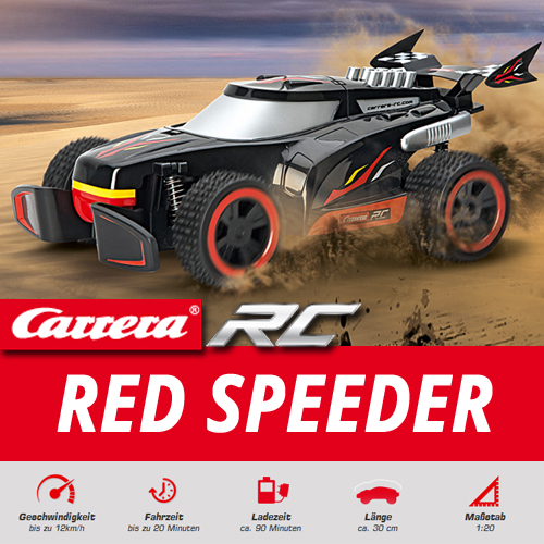 carrera rc red speeder off road auto buggy jeep 27 40 mhz. Black Bedroom Furniture Sets. Home Design Ideas