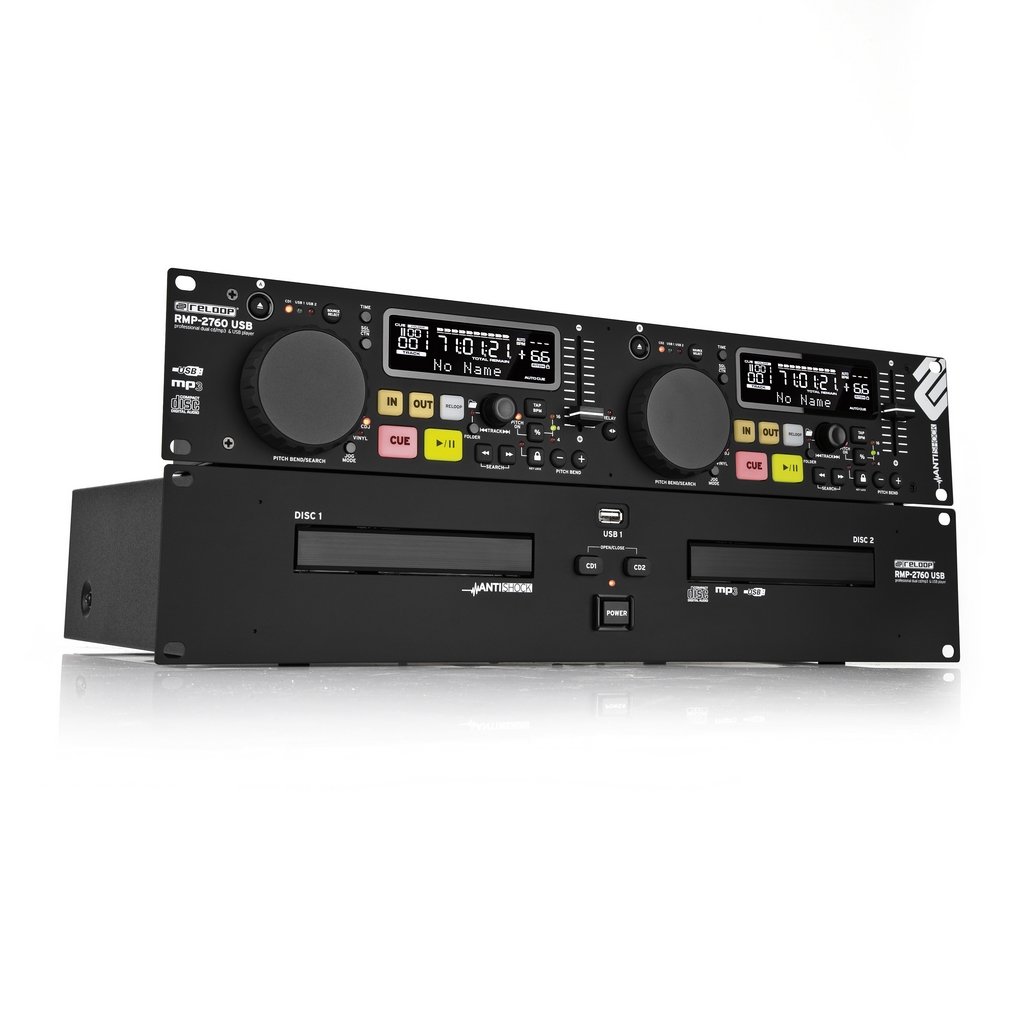 Reloop rmp 2760 usb dual mp3 dj cd player doppel cd player neu ebay - Lecteur cd pour voiture avec port usb ...