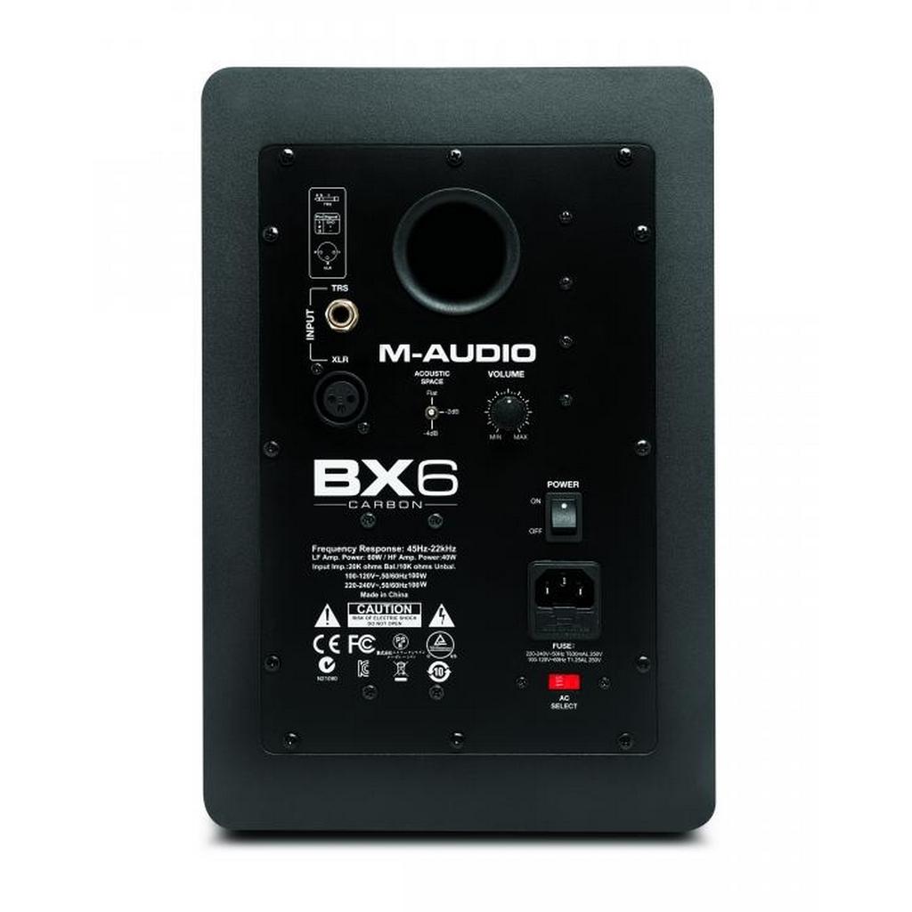 m audio bx6 carbon 2 wege aktiv studio monitor lautsprecher f djs producer ebay. Black Bedroom Furniture Sets. Home Design Ideas