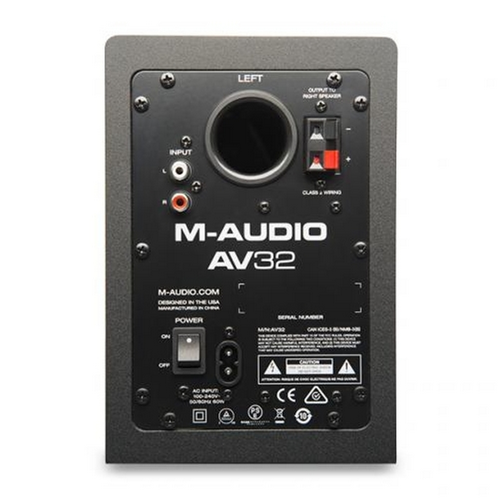 m audio av32 2 wege aktiv studio monitor lautsprecher paar f djs producer ebay. Black Bedroom Furniture Sets. Home Design Ideas